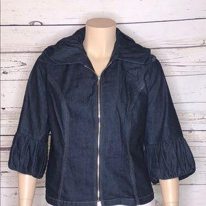 Venezia Jackets & Coats - Venezia Lane Bryant 18 Ruffle Denim Jean Jacket